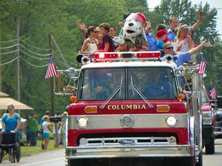 Columbia Homecoming Festival Parade Fire Department